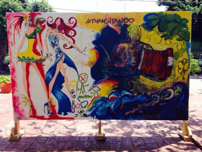 Mural de Cabrera, Cromcin Dominguez, Mabel Manzano