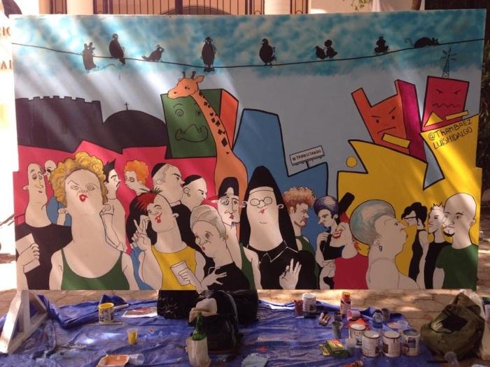 Mural de Luis Hidalgo y Than Baez, Noche Larga de Museos