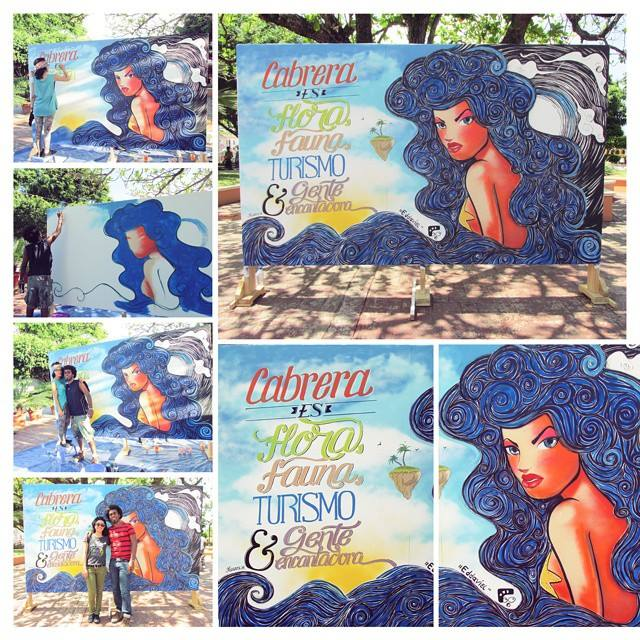 Mural Marova y Eddaviel, Patronales Cabrera